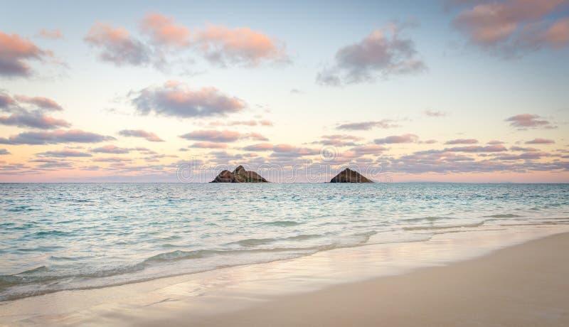 Hawaii lanikai plaży fotografia royalty free