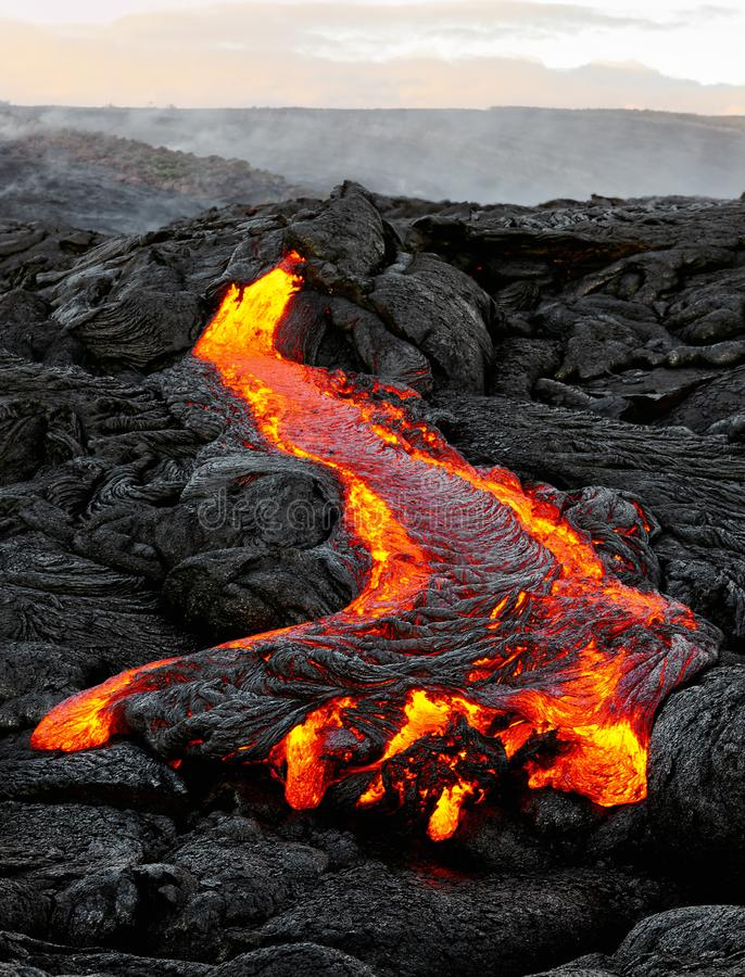 Free Hawaii - Lava Emerges From A Column Of The Earth Royalty Free Stock Photos - 135710328