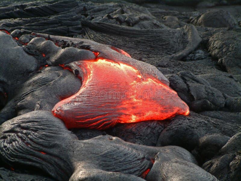 Hawaii lava flow stock photo