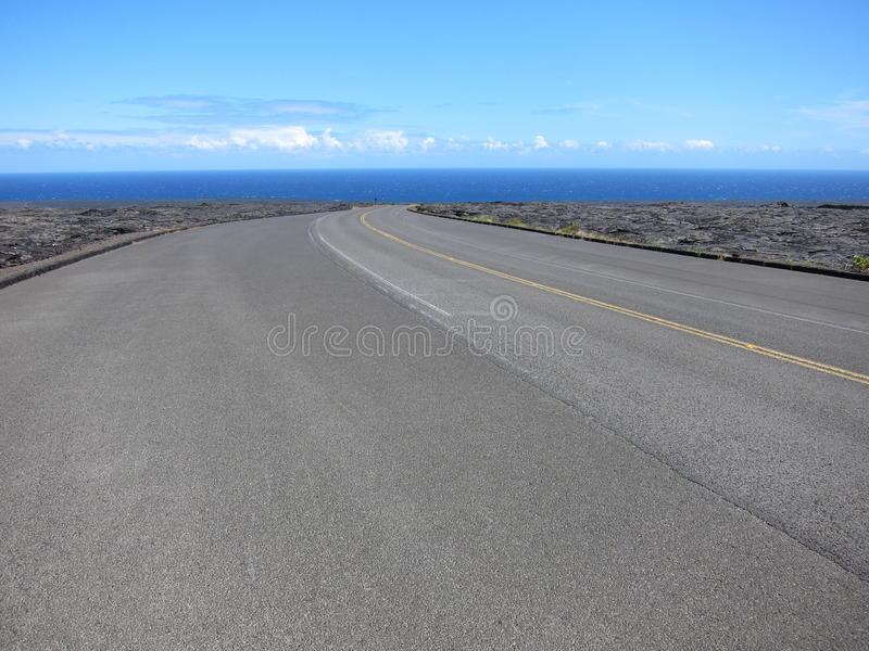 Download Hawaii Lava Road To The Sea Stock Photo - Image: 28161860
