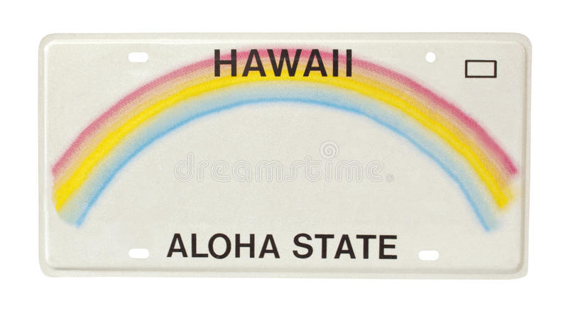 Download Hawaii License Plate Stock Image Of