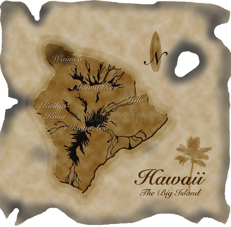 hawaii mapy stary pergamin obraz royalty free