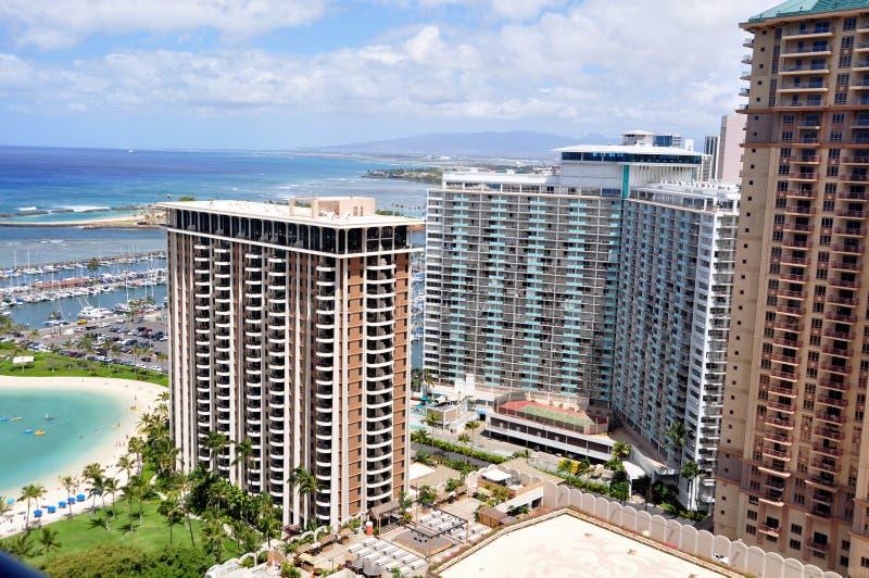 hawaii plażowy waikiki Oahu zdjęcie stock