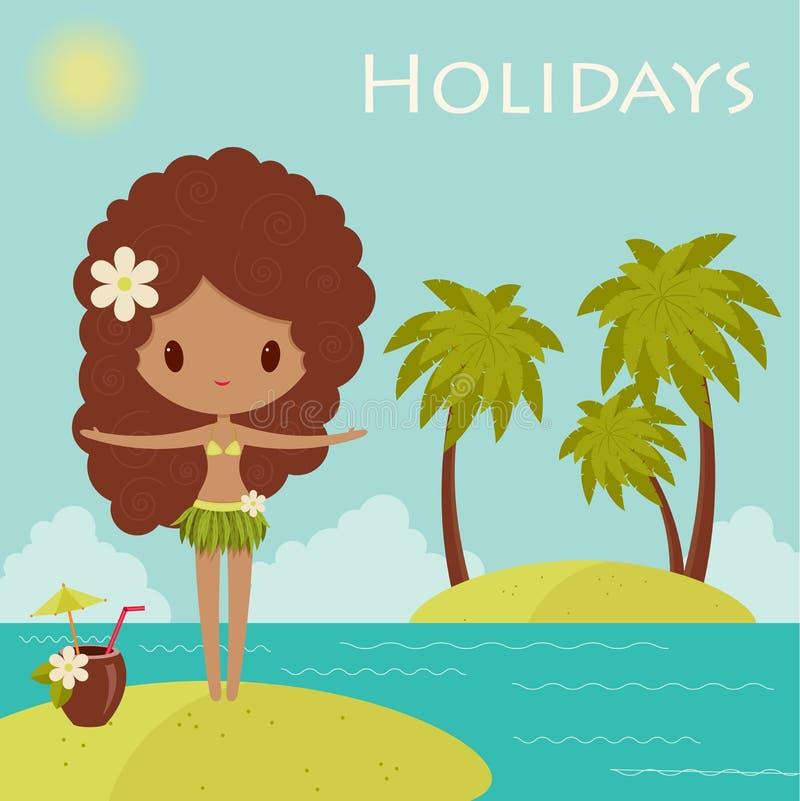 Hawaii-Plakat stock abbildung