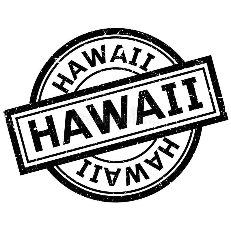 Hawaii rubber stämpel royaltyfri illustrationer