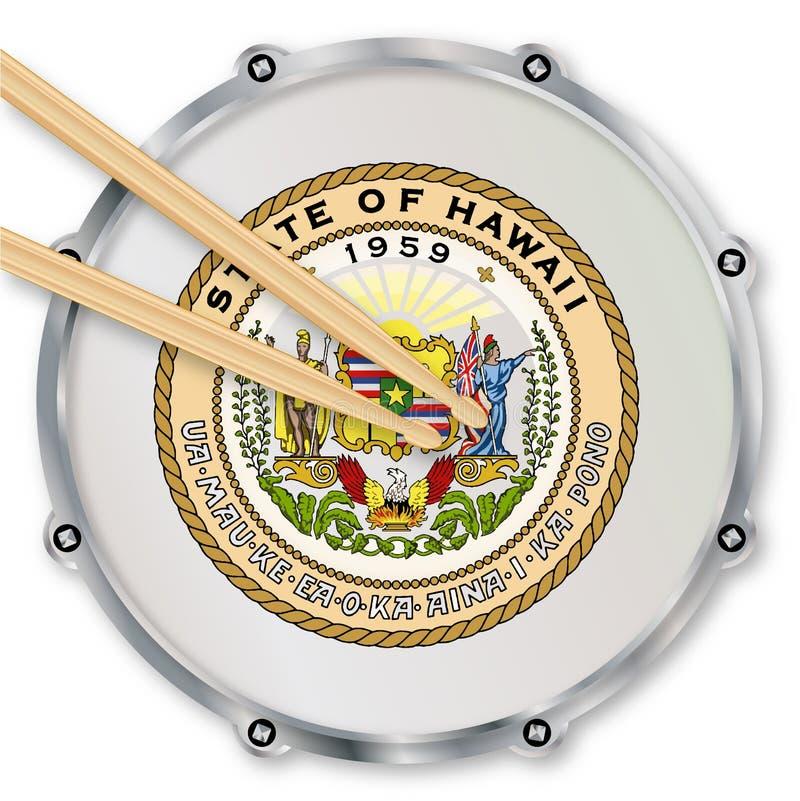Hawaii-Schnarrtrommel lizenzfreie abbildung