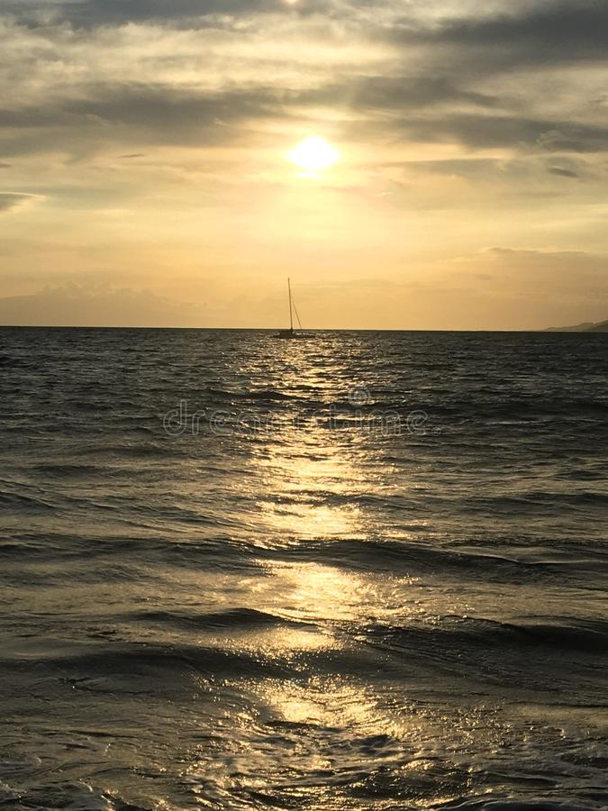 Hawaii-Sonnenuntergang lizenzfreies stockbild