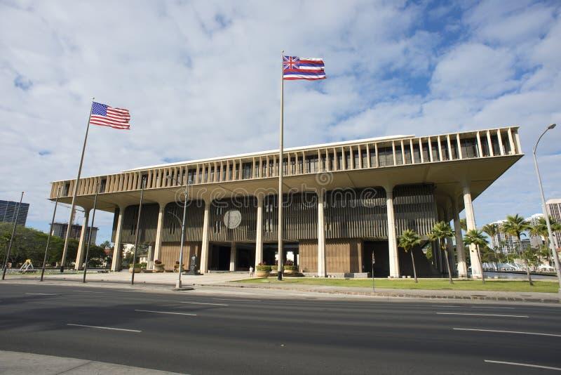 Hawaii State Capital Building. Stock Photo