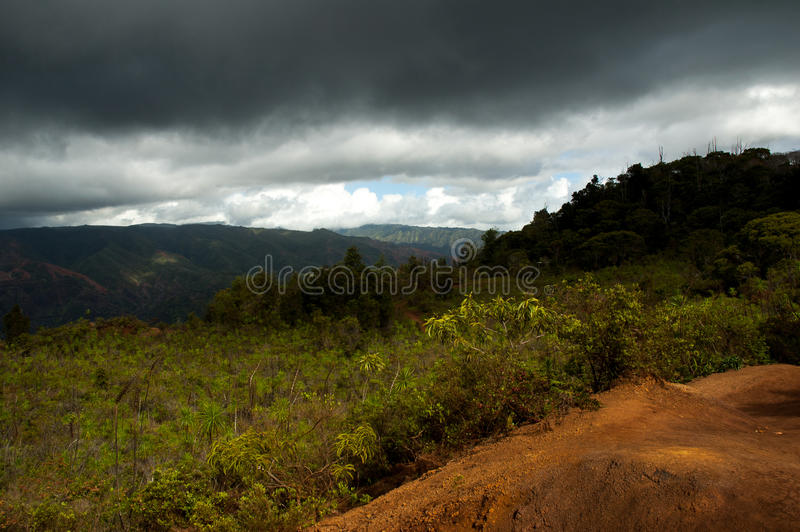 Hawaii storm stock photo