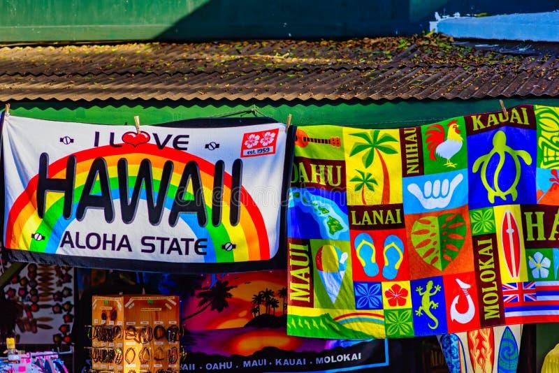 Hawaii strandhanddukar royaltyfri fotografi