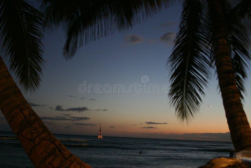 Hawaii after sunset stock photography
