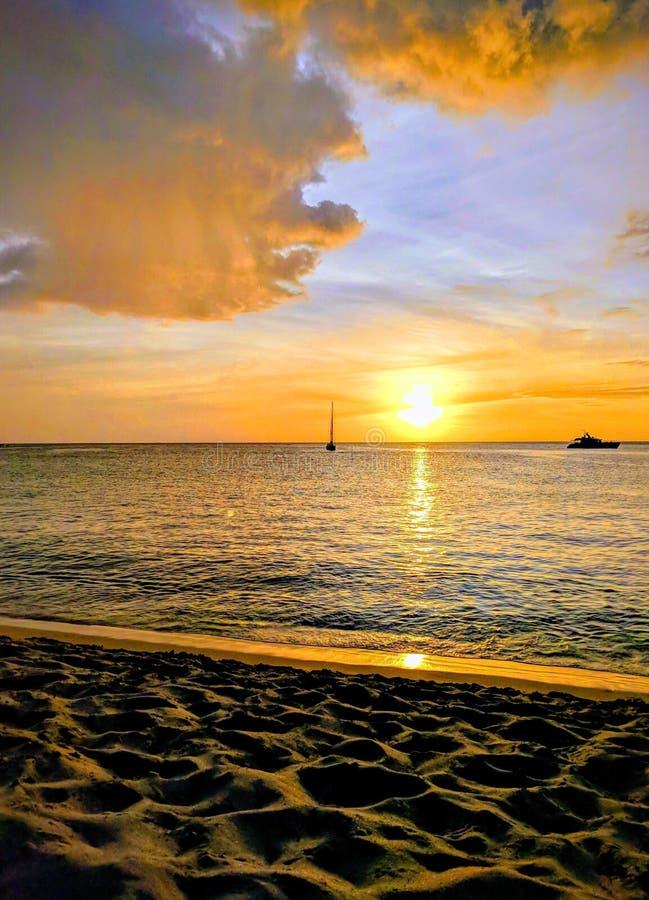 Hawaii Sunset Sail foto de stock royalty free
