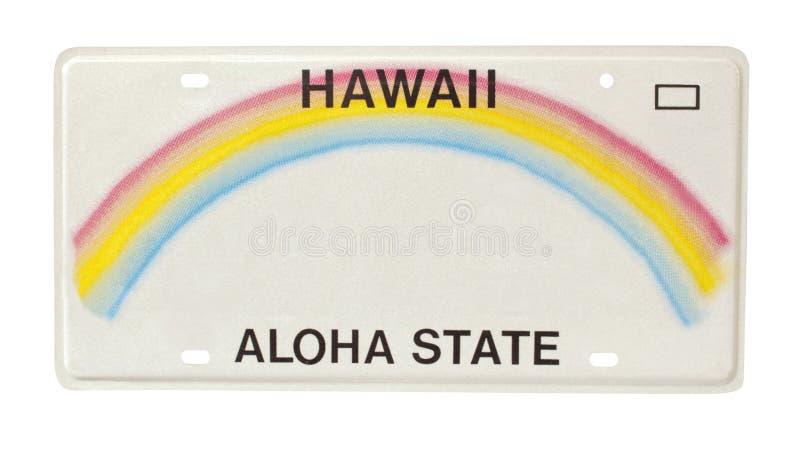 hawaii tablica rejestracyjna fotografia royalty free