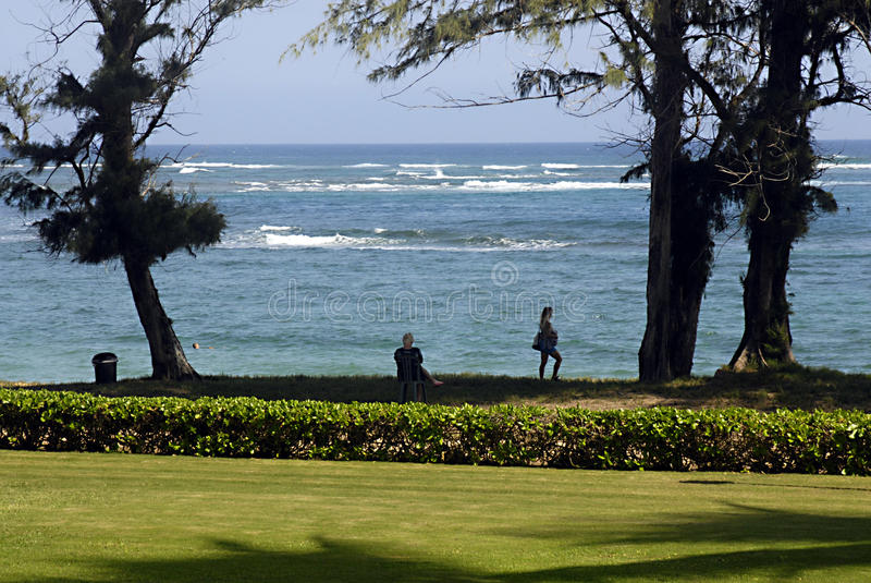 HAWAII_USA_PONO KAI-ERHOLUNGSORT-Besucher stockfotografie