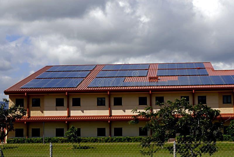 HAWAII_USA_Solar-Platten stockfotos