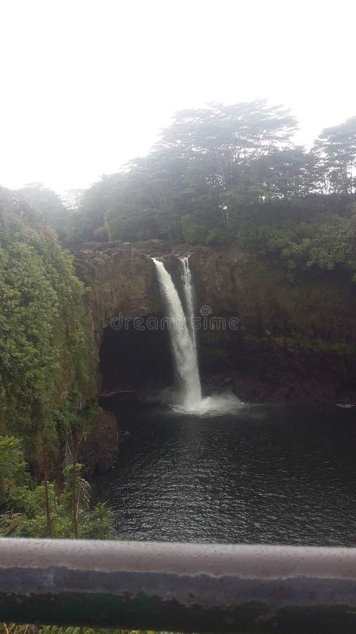 hawaii vattenfall royaltyfri foto