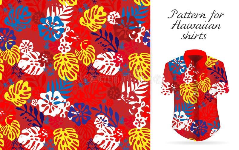 Hawaiiaans alohaoverhemd een pictogram in een vlakke die stijl op witte achtergrond wordt geïsoleerd royalty-vrije illustratie