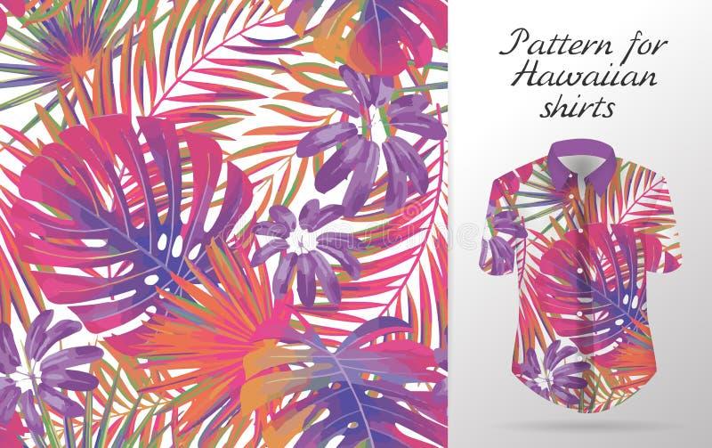 Hawaiiaans alohaoverhemd een pictogram in een vlakke die stijl op witte achtergrond wordt geïsoleerd vector illustratie