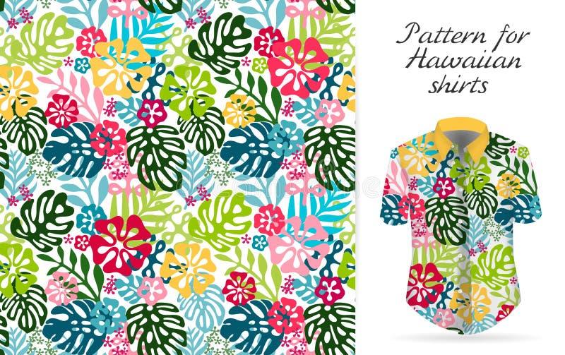 Hawaiiaans alohaoverhemd een pictogram in een vlakke stijl op witte achtergrond vector illustratie
