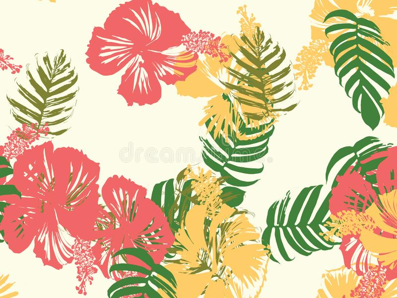 Hawaiiaans exotisch dekkingsmalplaatje royalty-vrije illustratie