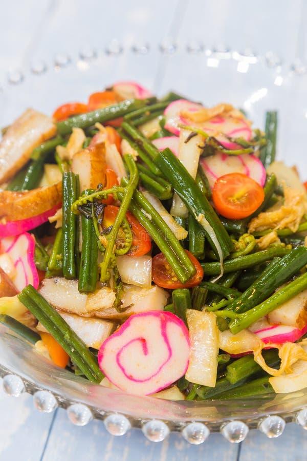 Hawaiiaans Fern Salad royalty-vrije stock foto's