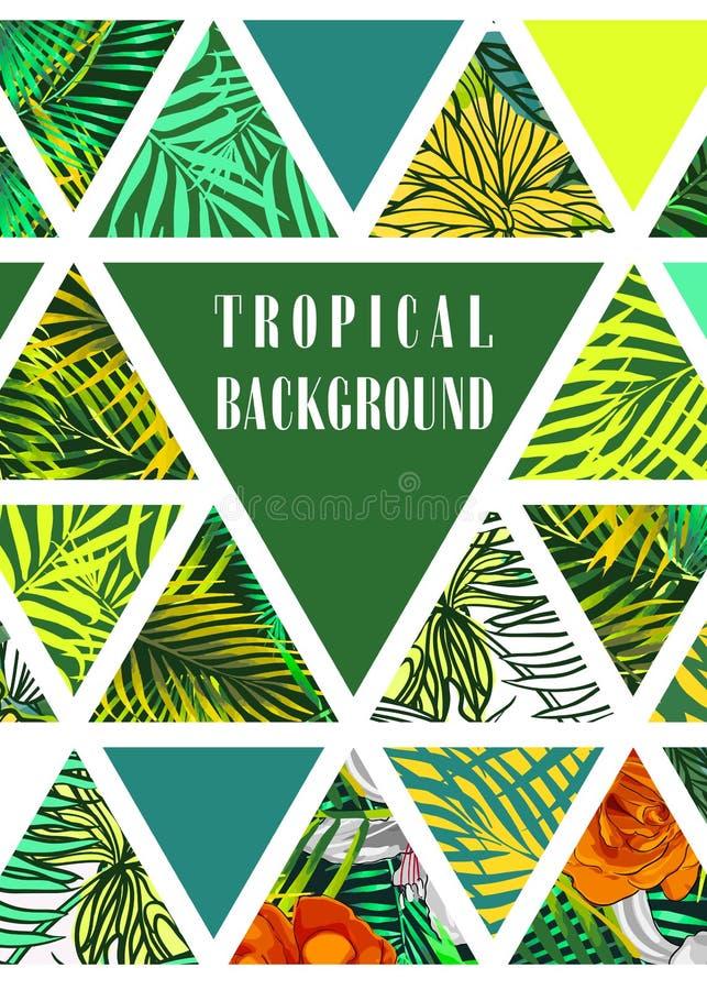 Hawaiiaans ontwerp met tropische installaties vector illustratie