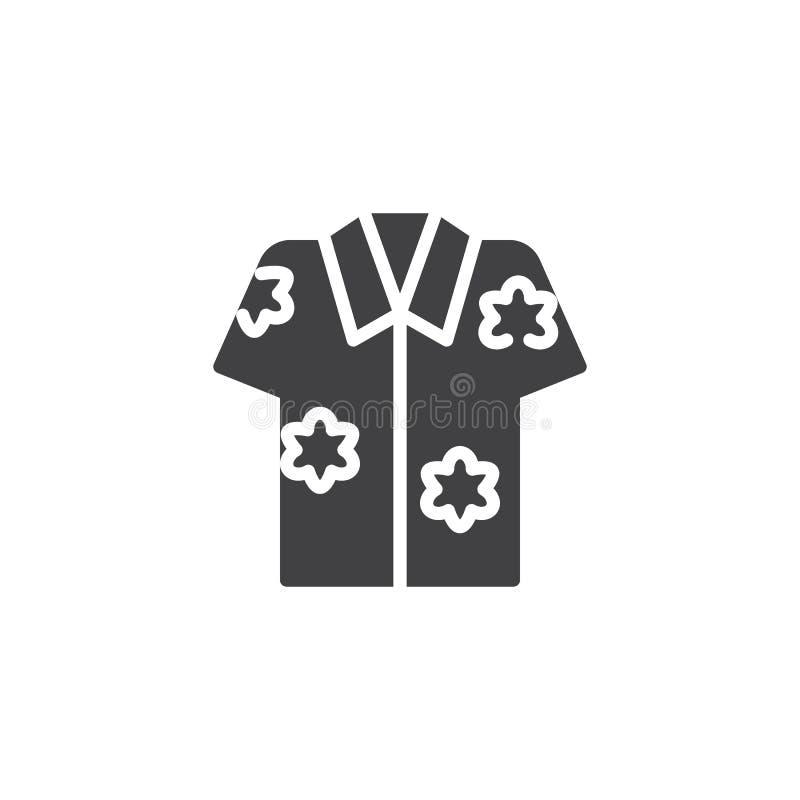Hawaiiaans overhemds vectorpictogram royalty-vrije illustratie