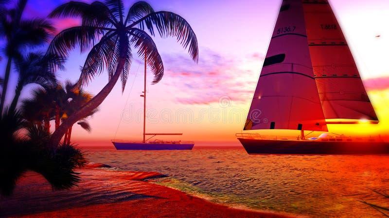 Hawaiiaans paradijs royalty-vrije illustratie