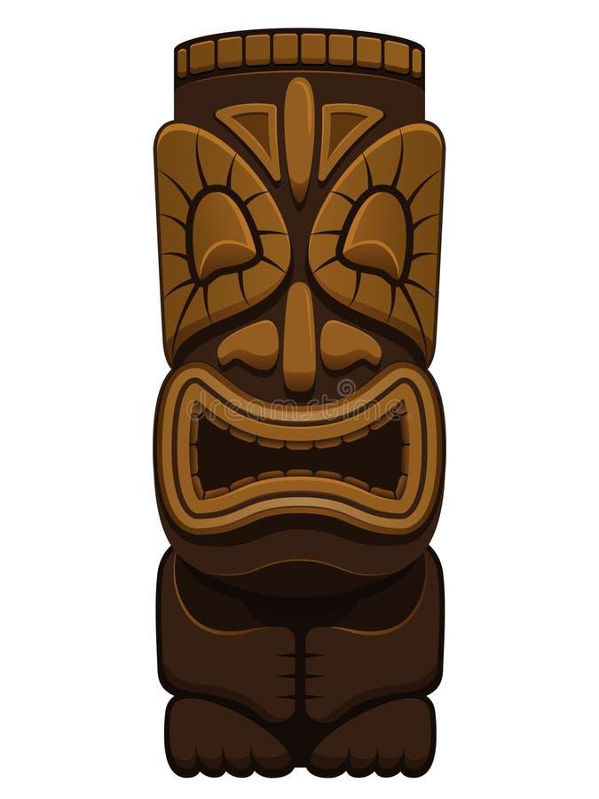 Hawaiiaans Standbeeld Tiki royalty-vrije illustratie