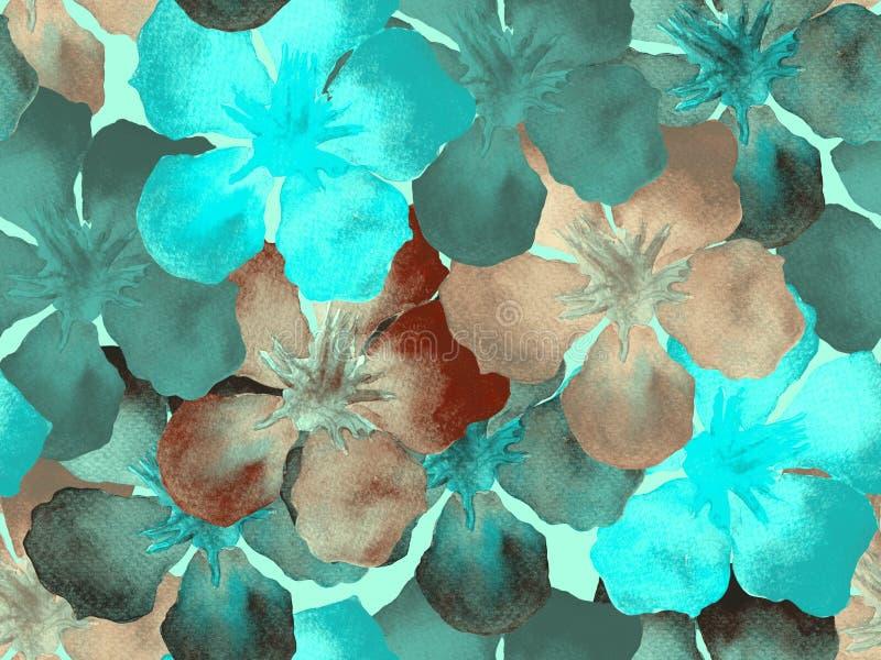 Hawaiiaans waterverfpatroon vector illustratie