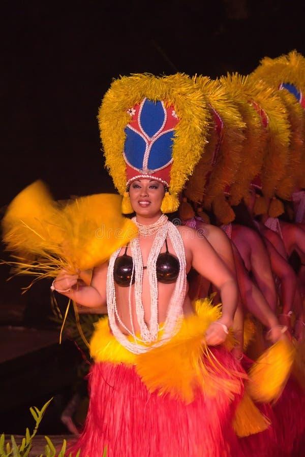 Hawaiiaanse dansuitvoerders royalty-vrije stock foto