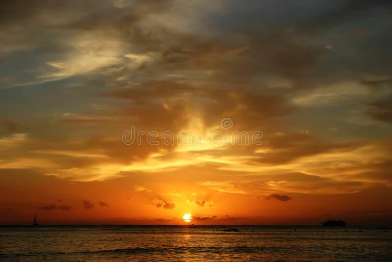 Hawaiiaanse Zonsondergang royalty-vrije stock afbeelding