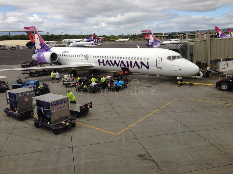 HAWAIIAN AIRLINES imagens de stock royalty free