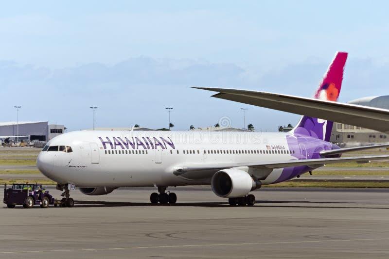 Hawaiian Airlines Boeing 767 royalty-vrije stock fotografie