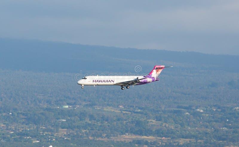 Hawaiian Airlines Boeing 717 jet stock image