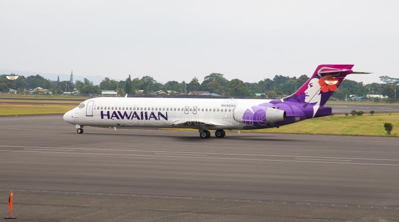 Hawaiian Airlines Boeing 717 jet stock photo