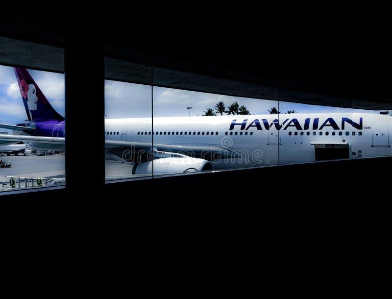 Hawaiian Airlines-Vliegtuigen stock afbeeldingen