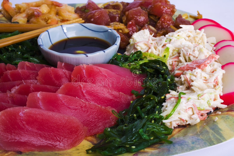 Download Hawaiian Appetizer Plate stock photo. Image of sauce, seed - 8118978