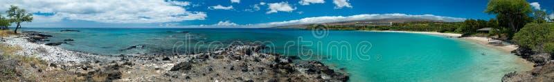 Hawaiian Beach panorama stock photography