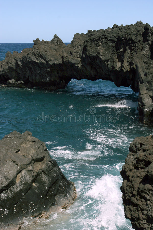 Free Hawaiian Beach Rock Formations Royalty Free Stock Photography - 1746177