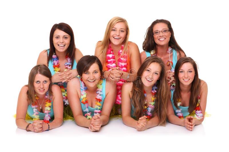 Download Hawaiian Beauties stock photo. Image of women, happy - 25065386