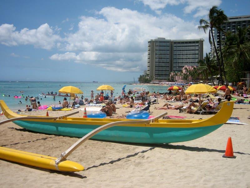 Hawaiian canoe 02 stock image
