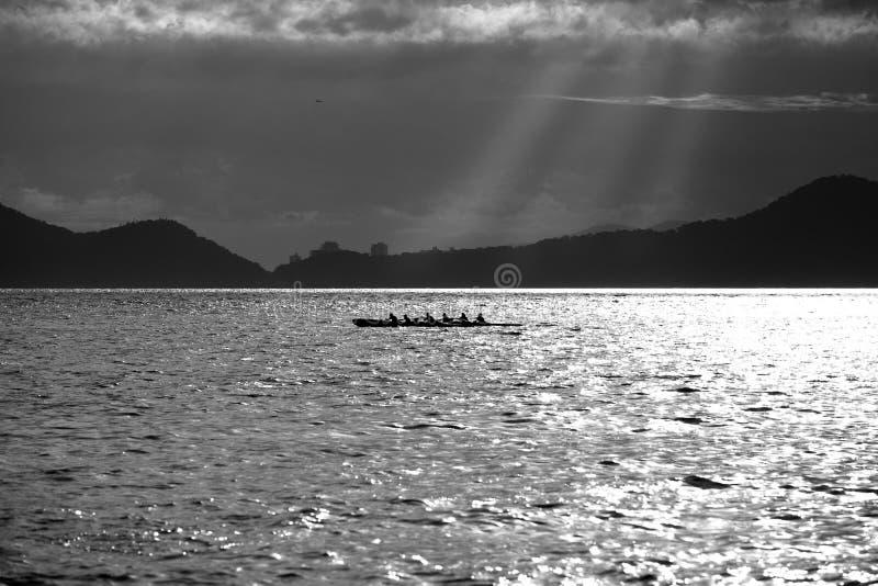 Hawaiian Canoe stock photo