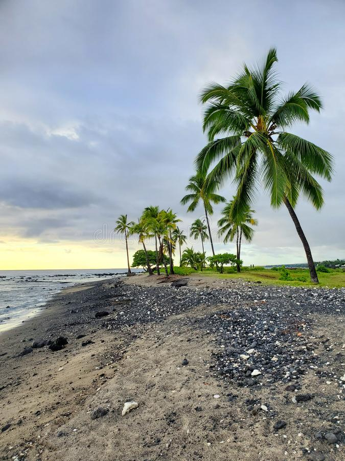 Hawaiian coast line stock photos