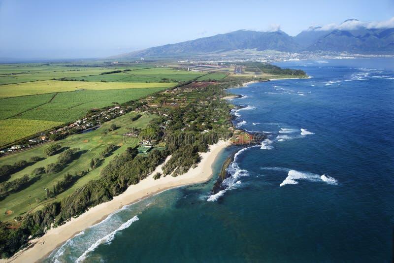 Hawaiian coastline. stock photography