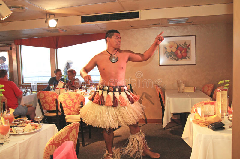 Download Hawaiian Dancers Perform On A Dinner Cruise Editorial Photo - Image: 26178356