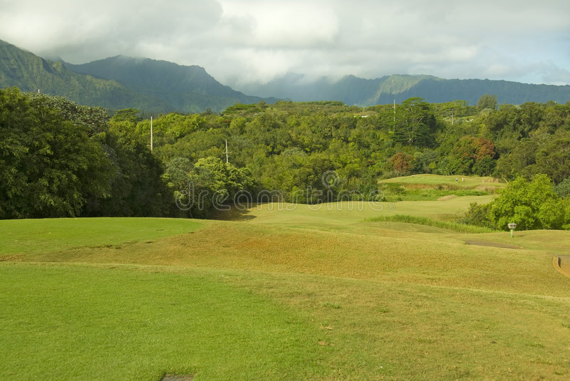 Download Hawaiian golf course stock photo. Image of mountains, tree - 4622912