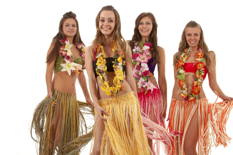 Hawaiian Hula Dancer Girls. Beautiful hawaiian Hula Dancer Girls stock photos