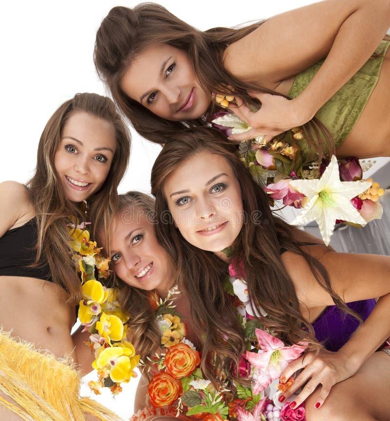 Hawaiian Hula Dancer Girls. Beautiful hawaiian Hula Dancer Girls royalty free stock image
