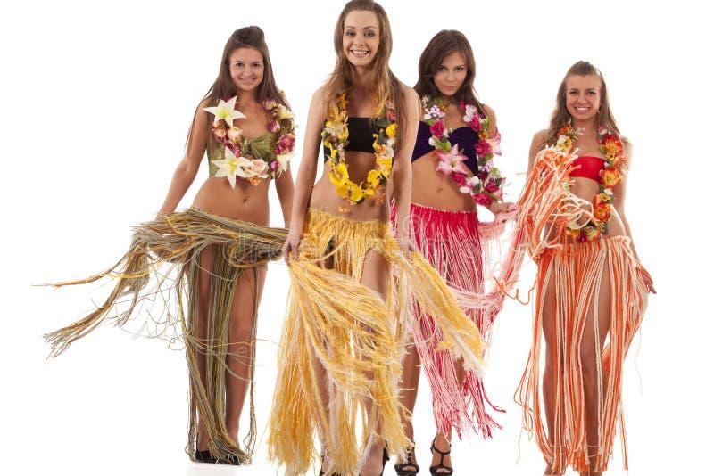 Hawaiian Hula Dancer Girls. Beautiful hawaiian Hula Dancer Girls royalty free stock photography